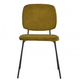 house doctor lao chaise velours vert olive fonce