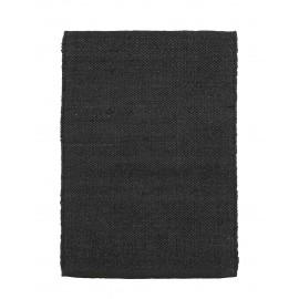 tapis descente de lit chanvre noir house doctor hempi 60 x 90 cm