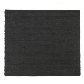 tapis carre chanvre noir house doctor hempi 180 x 180 cm