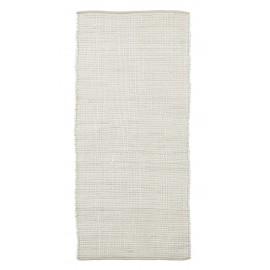 tapis descente de lit chindi coton blanc house doctor 70 x 160 cm