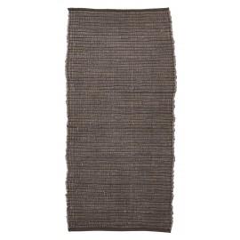house doctor tapis descente de lit chindi marron 70 x 160 cm