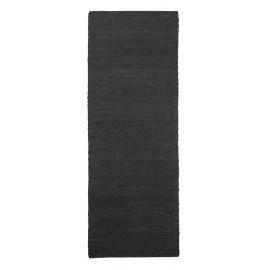 house doctor tapis de couloir long chanvre noir hempi 90 x 300 cm