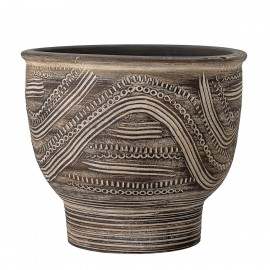 bloomingville grand cahce pot style ethnique terre cuite marron