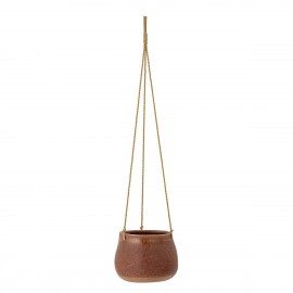 Cache-pot suspendu avec corde Bloomingville marron