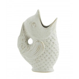 Vase poisson grès Madam Stoltz  blanc