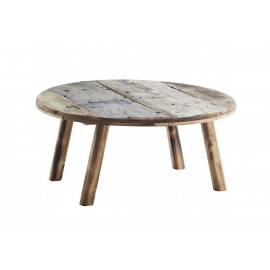 madam stoltz table basse rode bois recycle rustique d 90 cm