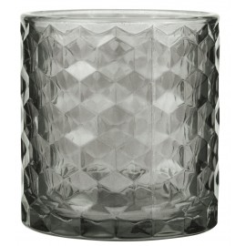 photophore porte bougie verre epais texture gris ib laursen