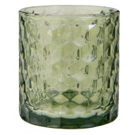 porte bougie verre texture photophore vert ib laursen