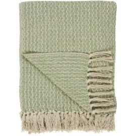 Plaid coton franges IB Laursen vert