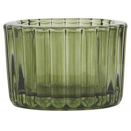 ib laursen porte bougie photophore ronde verre epais vert