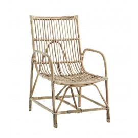 madam stoltz fauteuil en bois de bambou style campagne
