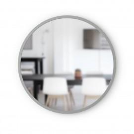 umbra hub miroir rond mural gris caoutchouc d 61 cm