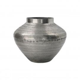 house doctor arti vase metal aluminium grave style antique