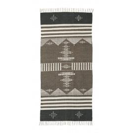 house doctor coto tapis motif ethnique chic laine coton brun gris ecru