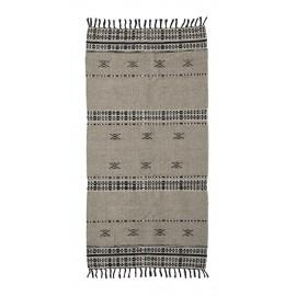 Tapis franges motif laine coton House Doctor Cros