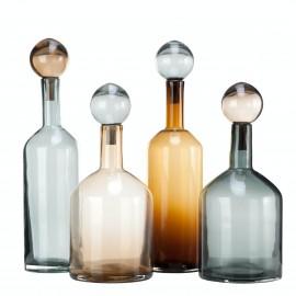 pols potten bubbles bottles carafes bouteilles design verres souffle