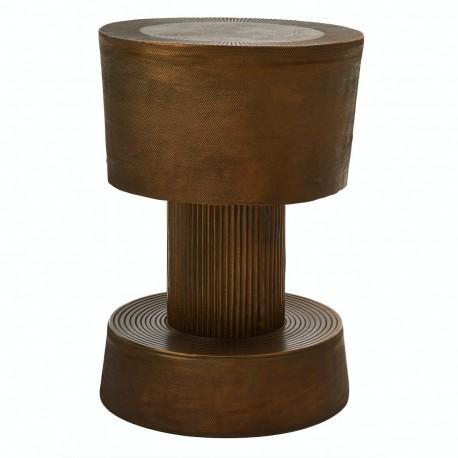 pols potten bolt tabouret design bas aluminium plaque laiton antique