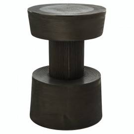 pols potten nut tabouret table appoint design alu patine graphite