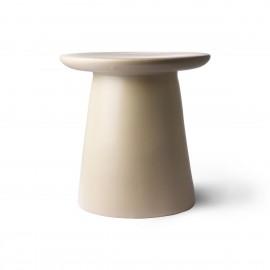 Table d'appoint ronde design grès HK Living