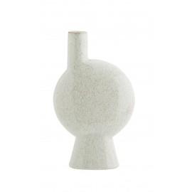 Vase design rétro grès Madam Stoltz blanc