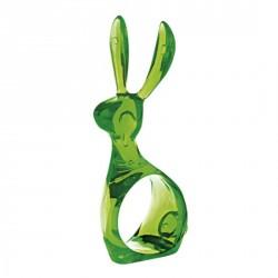 Rond de serviette décoratif vert Koziol Hazel