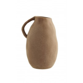 madam stoltz vase style rustique artisanal gres terracotta
