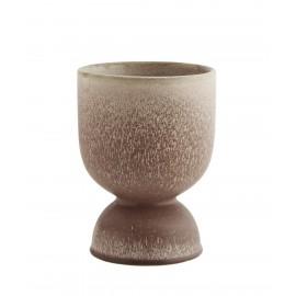 cache pot design original gobelet gres marron coquetier madam stoltz