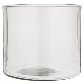 vase rond large verre transparent epais porte bougie ib laursen