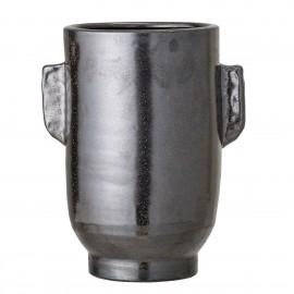 bloomingville cache pot vertical noir terre cuite  artisanal original