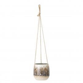 bloomingville cache pot suspendu gres style retro rezan