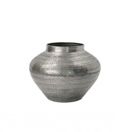 house doctor arti vase aluminium motifs graves style antique argent