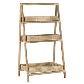 ib laursen etagere a poser 3 niveaux tablettes bois clair bambou