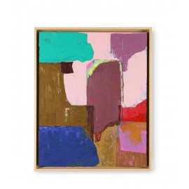hk living chapter 3  tableau abstrait multicolore 40 x 50 cm