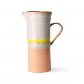 hk living sunrise pichet droit gres couleur pastel rose corail  jaune