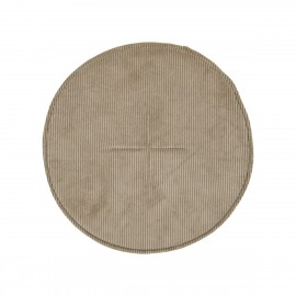 house doctor coussin de chaise rond chic velours cotele beige