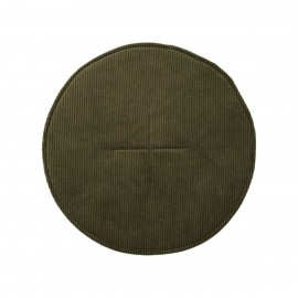 coussin de chaise rond chic velours cotele vert house doctor cord