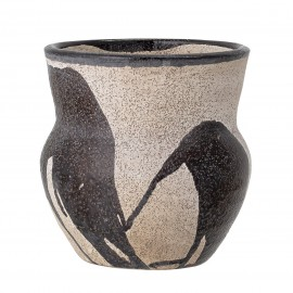 bloomingville vase pot terre cuite peint decoratif