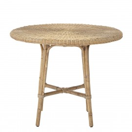 bloomingville table a manger ronde rotin tresse naturel julietta