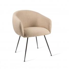 pols potten buddy fauteuil de table confortable rembourre textile beige