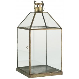 grande lanterne vitree metal dore laiton antique ib laursen