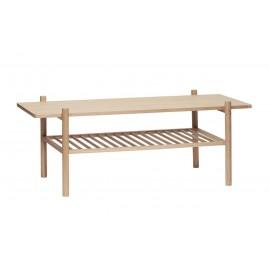 hubsch table basse rectangulaire design contemporain bois clair