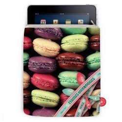 Housse originale pour iPad macarons exquise bonjour mon coussin