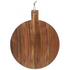 ib laursen planche a decouper ronde bois fonce acacia