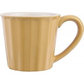 ib laursen mug faience cotelee jaune moutarde mynte