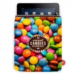 Housse iPad smarties bonjour mon coussin