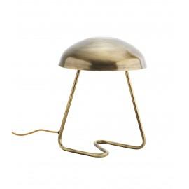 madam stoltz petite lampe de table metal dore