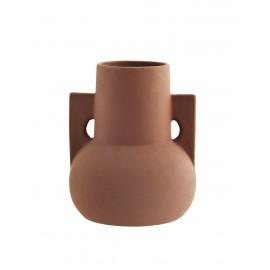 madam stoltz vase design original terre cuite marron rustique