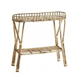 madam stoltz table console en tiges de bambou style retro camapagne