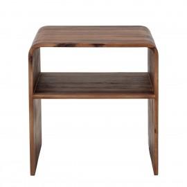bloomingville table de chevet bois fonce d acacia hassel