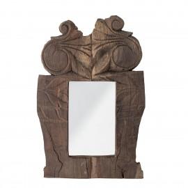 bloomingville petit miroir bois sculpté indien recycle hoda
